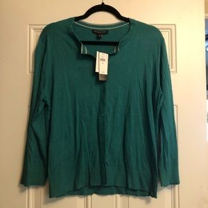 NWT Turquoise Button Up Sweater